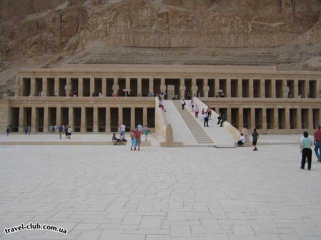 Египет  Достопримечательности  Долина царей (Луксор)  Храм царицы Хатшепсут