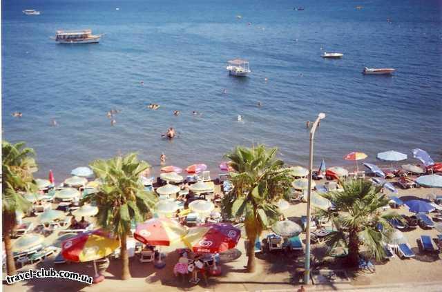 Турция  Мармарис  Green Beach 3*  вид из отеля на пляж