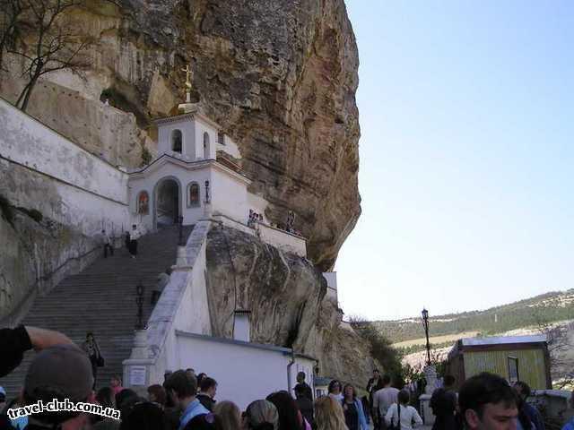 Украина  Крым  Бахчисарай  монастырь в горах