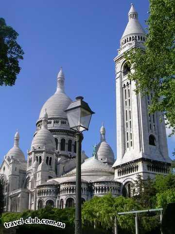 Франция  Париж-Женева  Сакре Кёр в цвете