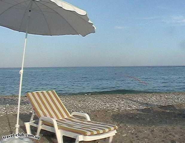 Турция  Кемер  Bella Vue Beach 4*  Пейзаж на пляже