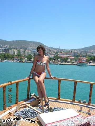 Турция  Кушадасы  Pine Bay Beach Club HV-1  Супруга на катере