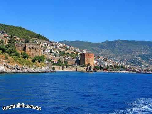 Турция  Алания  Club gunes gardens 3*  Вид на город Аланья с катера.