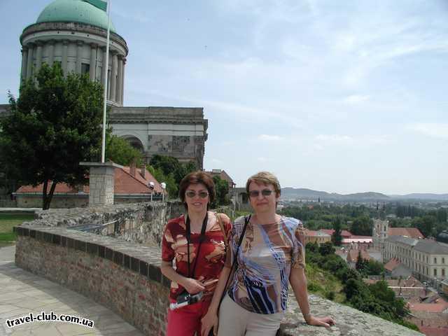 Венгрия  Будапешт  Argo  Эстергом, вид на город с Крепостной горы