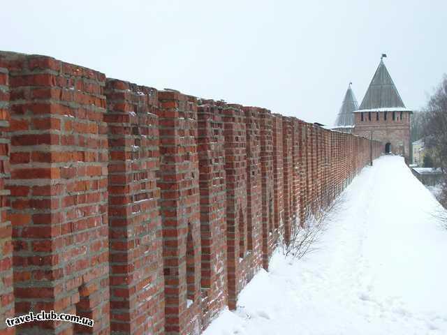 Россия  Смоленск  А это мы на стену залезли... зима, скользко... холодно, но