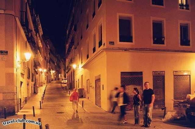 Испания  Мадрид  Мадрид. На вечерних улочках старого города.