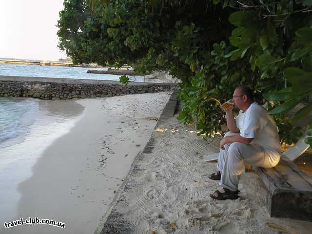 Мальдивские о-ва  атолл Адду остров Ган  Equator Village  Теплый океан и холодное пиво, что еще нужно...?