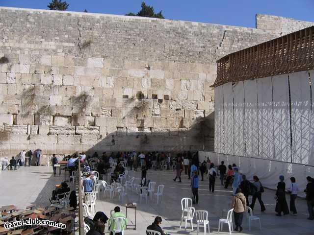Израиль  Стена Плача в Иерусалиме (справа - только женщины, слев�