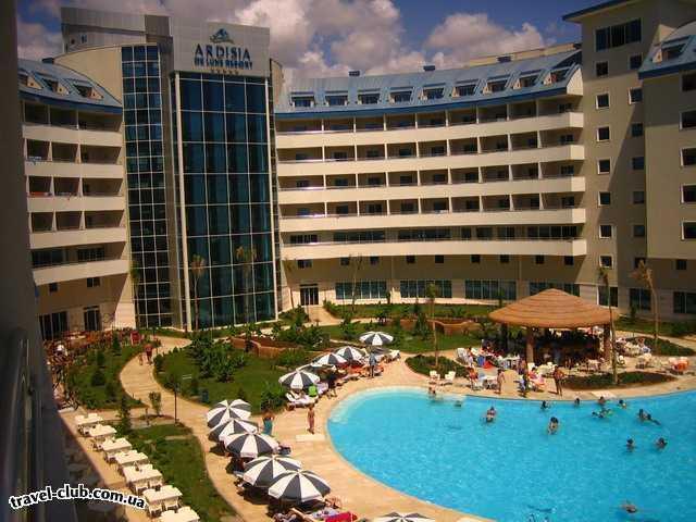 Турция  Сиде  Ardisia de lux resort  вид с балкона