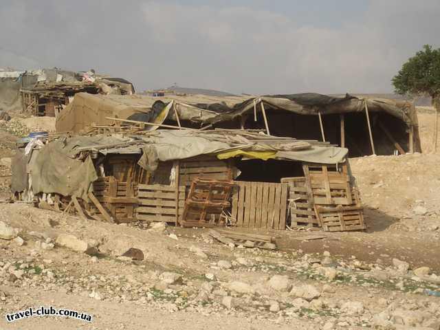 Израиль  Бедуинский дом в Иудейской пустыне