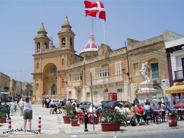 Мальта  Площадь-у-рынка-Марсашлок