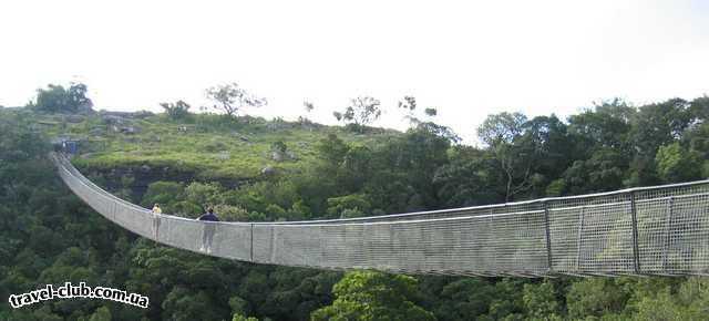 ЮАР  Навесной мост в Lake Eland Game Reserve. Проход по нему показался