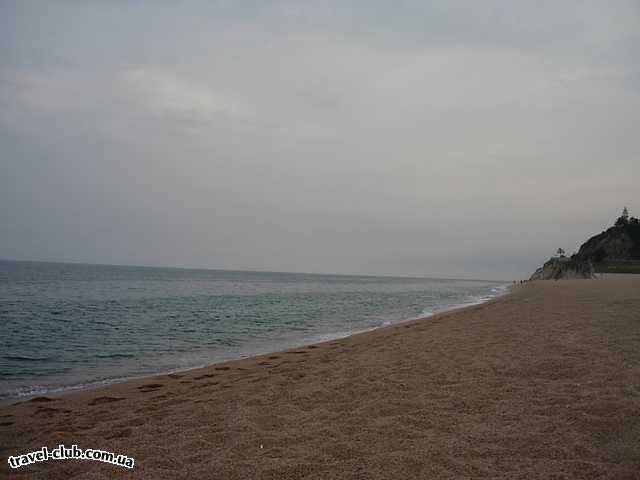 Испания  Коста дель Мересме, Калелла  President ***  Калелла - Безлюдный вечерний Пляж