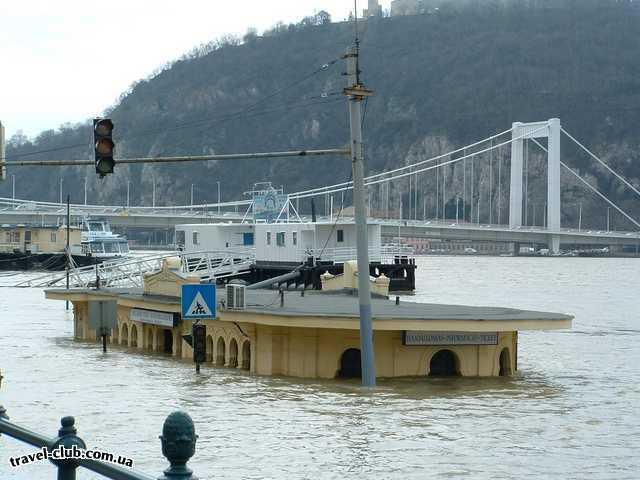 Венгрия  Будапешт  Гор.причал прогулочных кораблей
