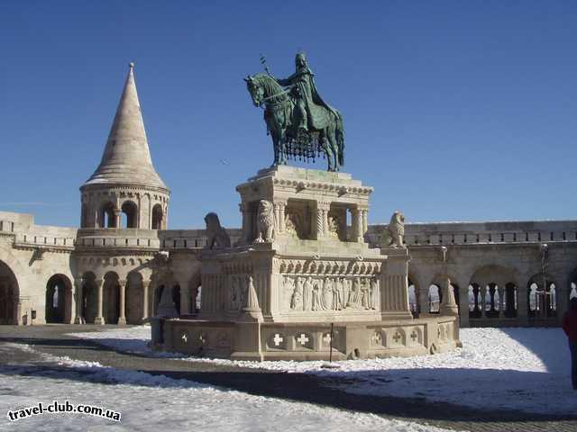 Венгрия  Будапешт  Платанус ***  Памятник св. Иштвана и Рыбацкий бастион.<br /> 07/03/2006