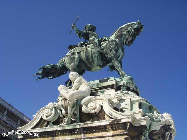 Венгрия  Будапешт  Платанус ***  Памятник Евгению Савойскому около королевского дворц�