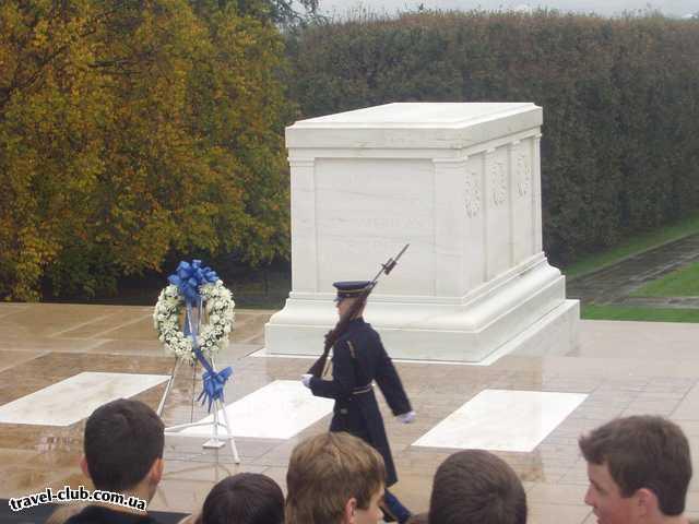 США  Америка  Вашингтон. Арлингтонское кладбище. Памятник неизвестн
