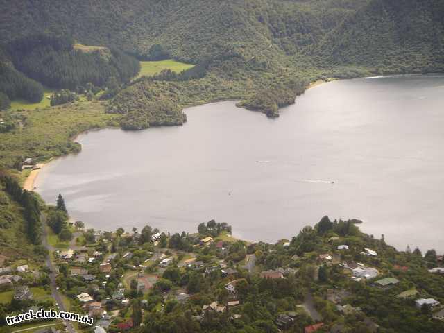 Новая Зеландия  Вид с птичьего полета