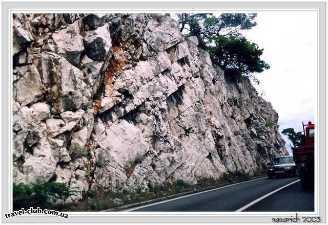 Хорватия  Средняя Далмация  Шибеник  Приморское шоссе около Шибеника