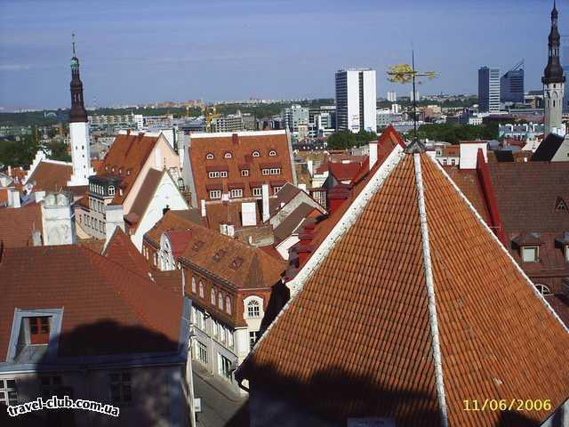 Эстония  Таллинн  Scane  панорама города