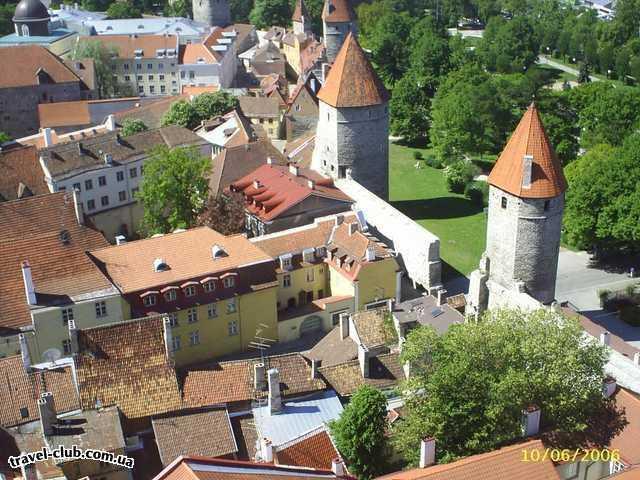 Эстония  Таллинн  Scane  вид на Старый город со смотровой площадки собора St.Oliver