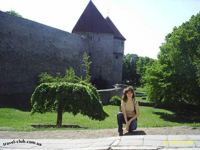 Эстония  Таллинн  Scane  у городской стены