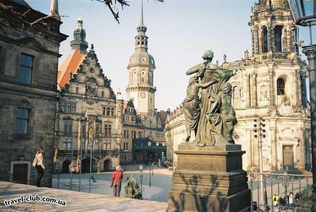 Германия  Берлин  Дрезден.Историческая часть города.