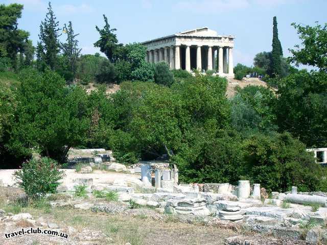 Греция  Халкидики  Poseidon 4* ( Sitonia )  Афины, вид с Агоры на храм Гефеста
