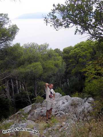 Хорватия  макарская ривьера, курорт башка вода  парк в макарском