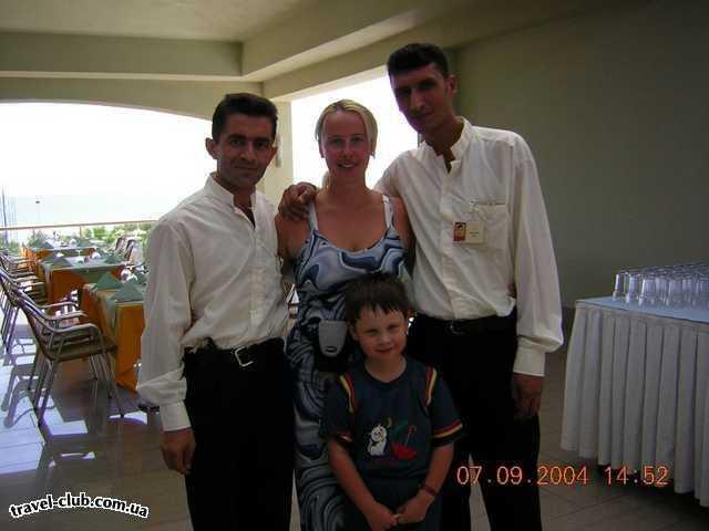Турция  Белек  Pine beach city club & resort hotel  эти официанты предугадывали все наши желания.Спасибо �