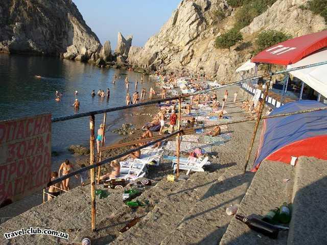 Украина  Симеиз  загаженные пляжи Симеиза