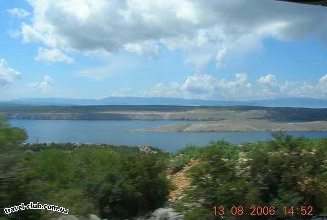 Хорватия  город Сельце  Подъезжаем к побережью