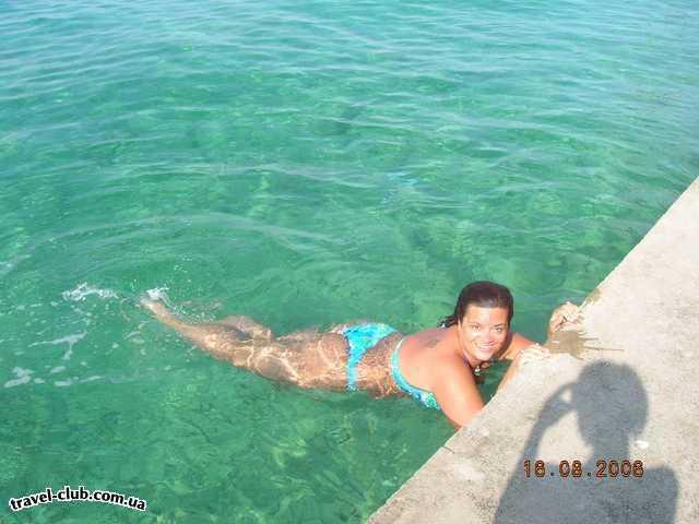 Хорватия  город Сельце  Вот такие пляжи-бетонные плиты...