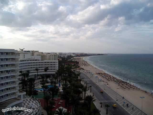 Тунис  Сусс  El Hana Beach  Инфраструктура отеля (вид с крыши)
