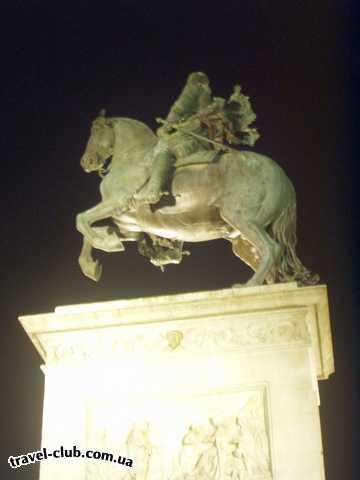 Испания  Мадрид  TRYP ALCALA 611  Памятник Филиппу IV с подсветкой