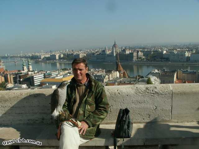 Венгрия  Будапешт  Rege  Будапешт. Вид на Парламент с Рыбацкого бастиона.