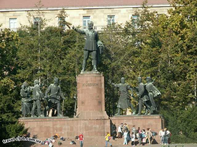Венгрия  Будапешт  Rege  Будапешт. Памятник Яношу Кошуту около Парламента.