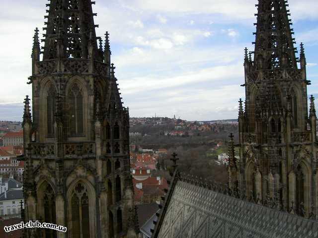 Чехия  Прага  Вид с башни собора Св.Вита