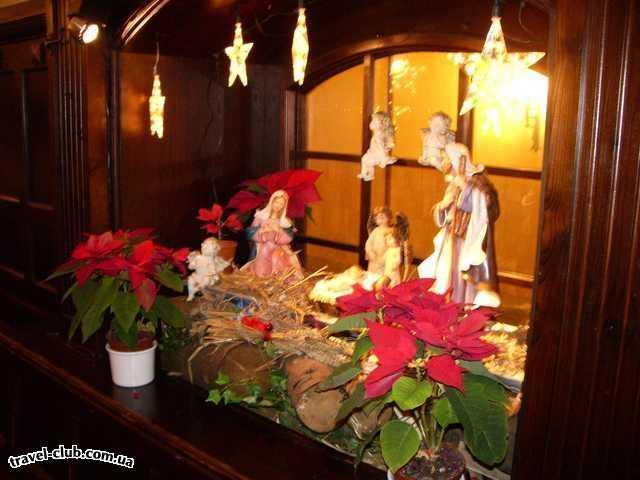 Германия  Бавария  отель Герцог  рождественский вертеп в пивном саду Пауланер (Мюнхен) �