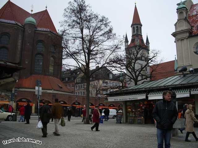 Германия  Бавария  отель Герцог  Мюнхен - рыночная площадь