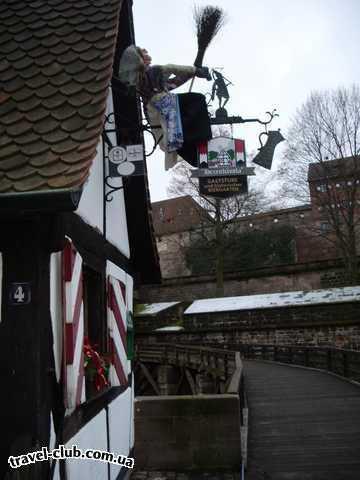 Германия  Бавария  отель Герцог  Нюрнберг,вывеска трактирчика