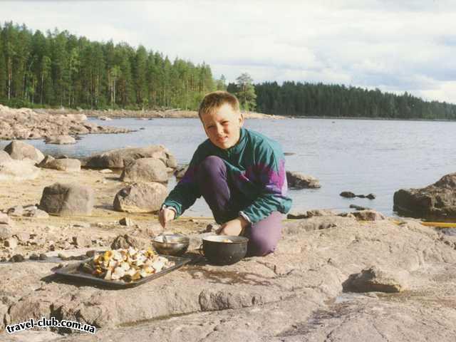 Россия  Карелия  Грибы на ужин