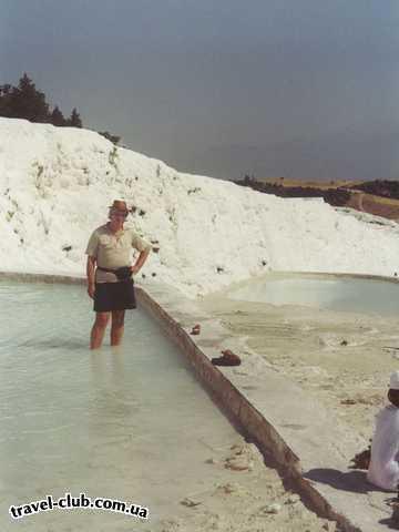 Турция  Памук-кале, ванны в потоке извести