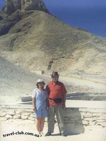 Египет  Луксор (Фивы)  У входа в гробницу Тутанхамона
