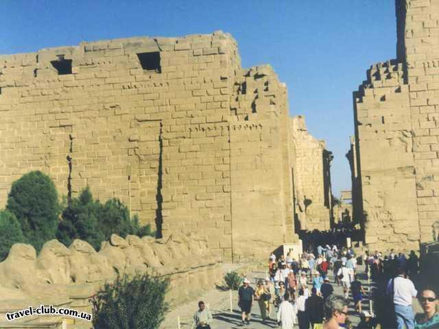 Египет  Луксор (Фивы)  Вход в Карнакский храм