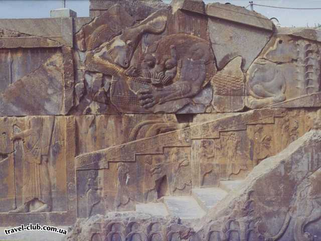 Иран  Шираз  Персеполис, фрагмент