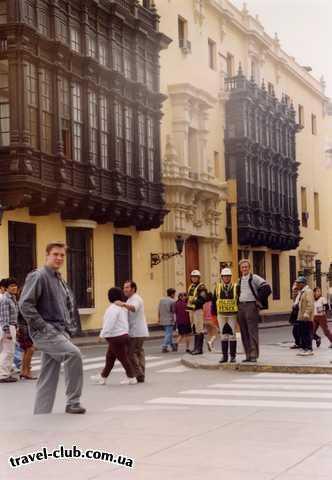 Перу  Лима  Улица Испанских балконов