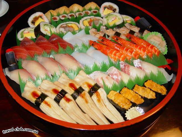 Япония  Tokyo  sushi