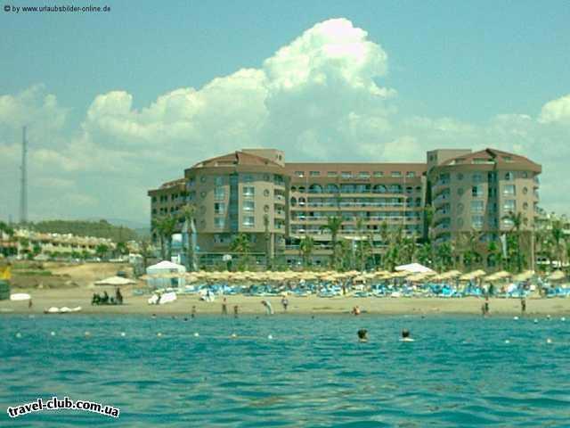 Турция  Алания  Arycanda de luxe 5*  вид с моря