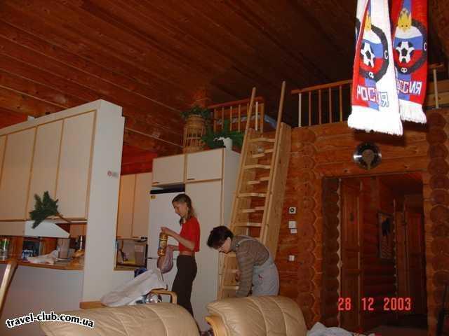 Финляндия  Ювяскуля  Кухня в коттедже